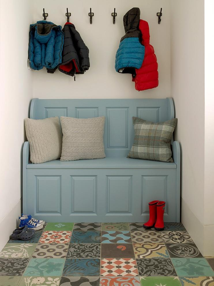 Very small entry was able to accommodate the cabinet and box for footwear