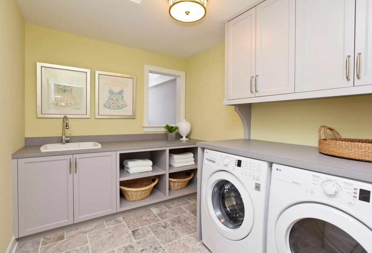 Functional and Beatiful Laundry Interior Ideas. Utilitarian space with nice pictures
