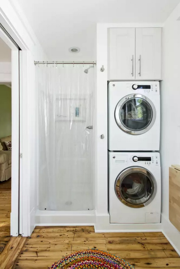 Functional and Beatiful Laundry Interior Ideas. Small space doesn't mean you need to deny the laundry corner