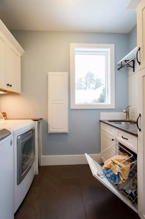 Functional and Beatiful Laundry Interior Ideas. Drying cabinet