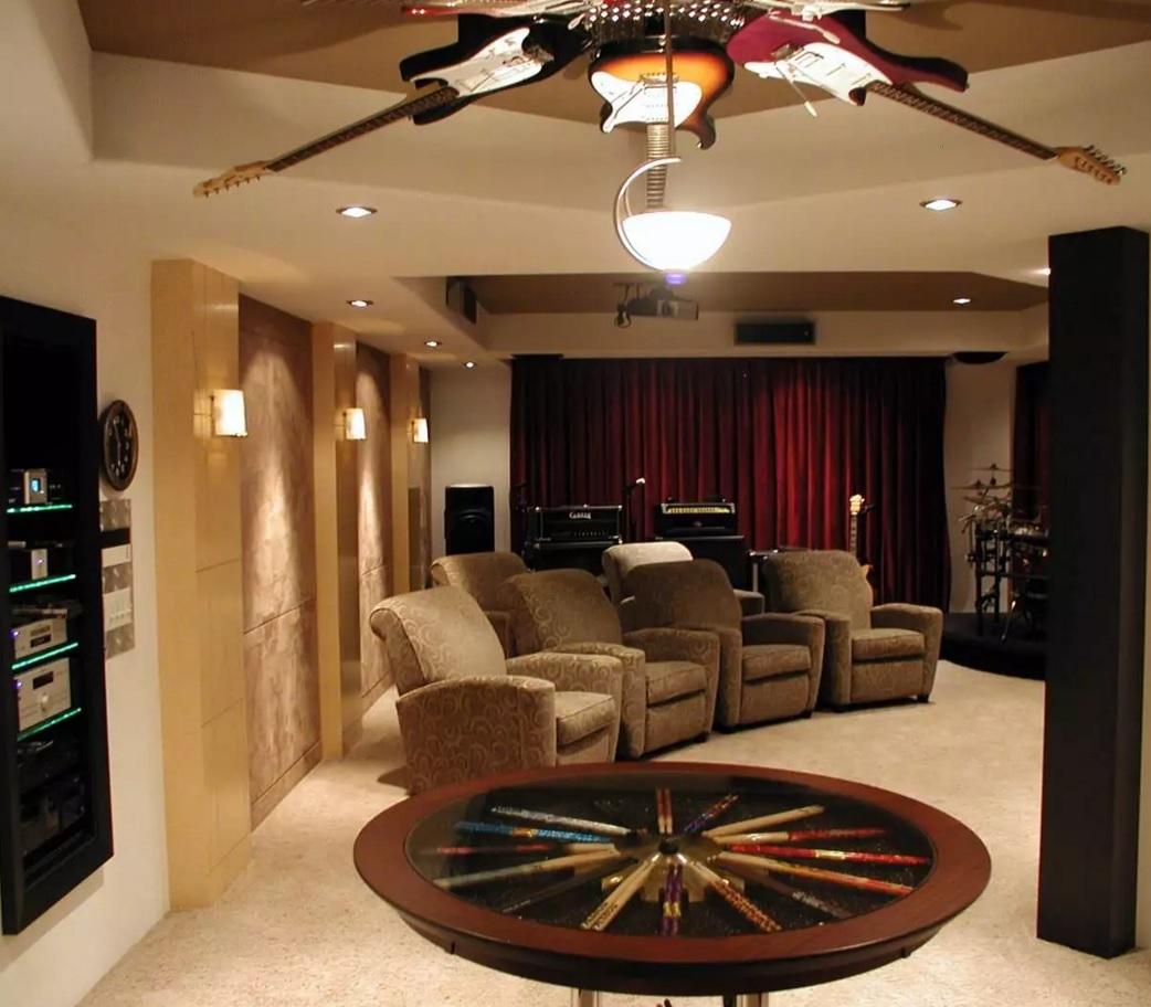 Original Interior Musical Design Ideas. Unique chandelier of rock guitars