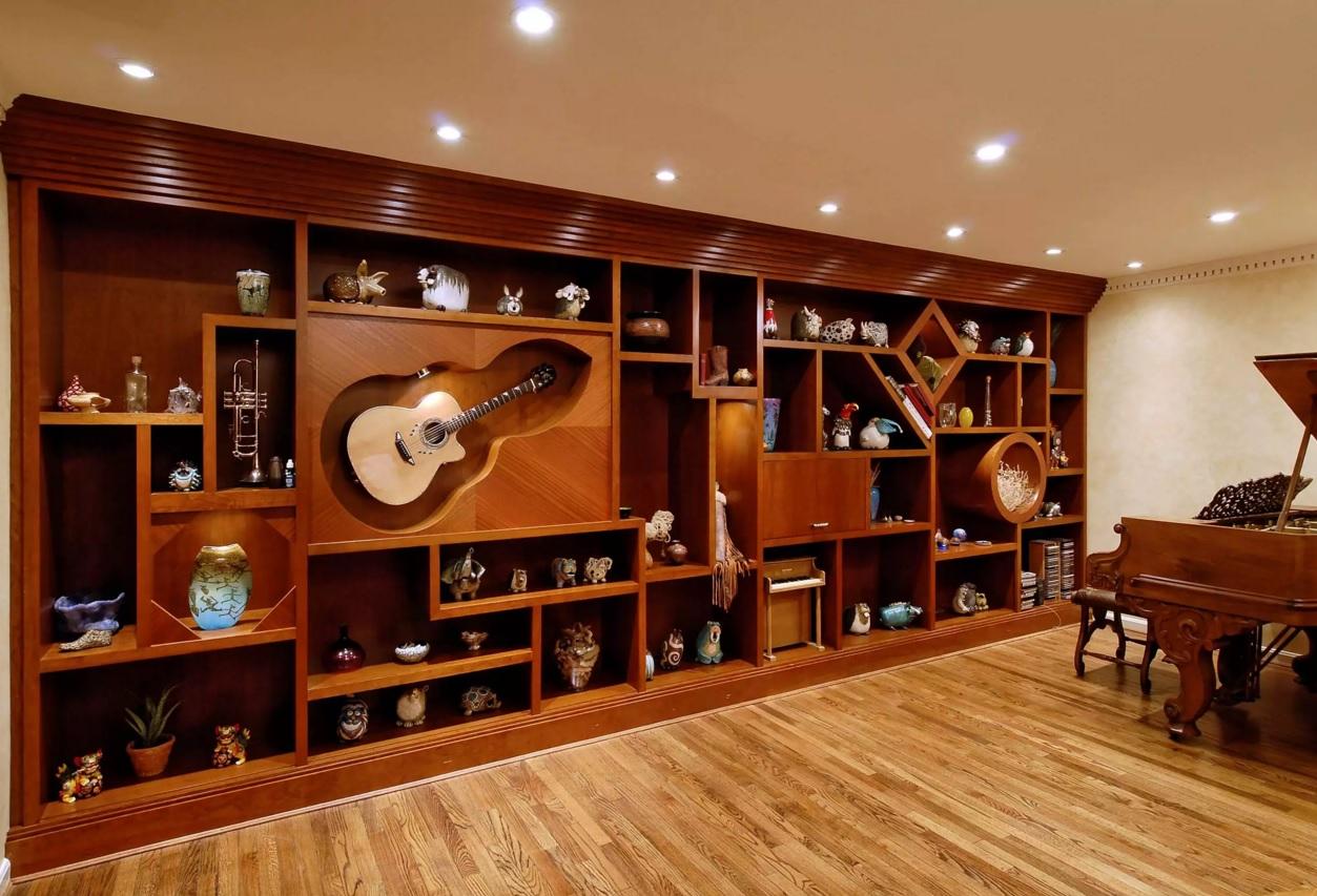 Original Interior Musical Design Ideas. Nice approach to make a wall unit