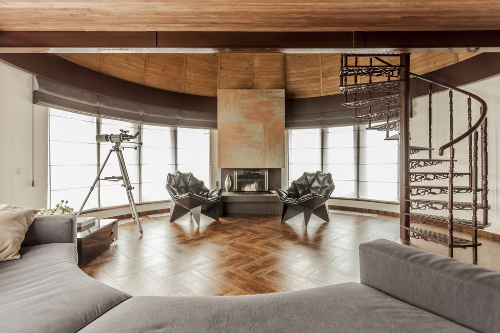 Modern Industrial Style Design of Kiev Apartment. Absolutely gorgeous idea of the living room with notes of loft, futurism, classicism and other styles