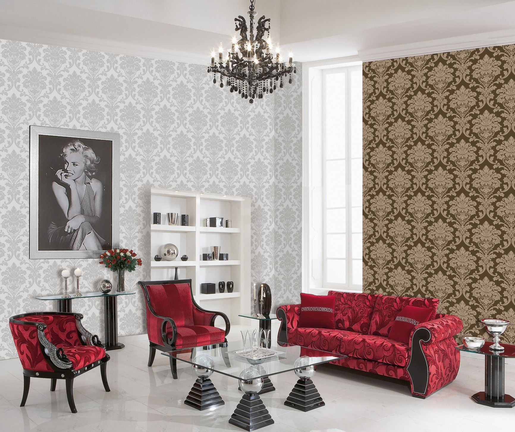 Most Widespread Types of Wallpaper. Non-woven type in the combined interior