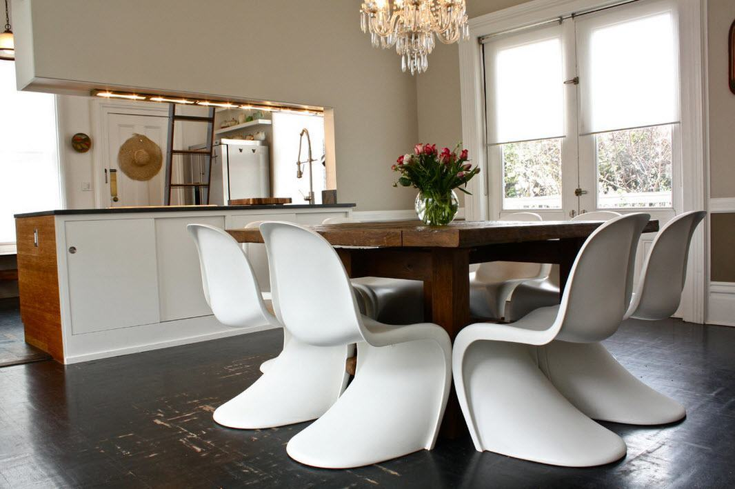 100 Kitchen Chairs Design Ideas. Unusual anatomic form for armchairs of the dining group