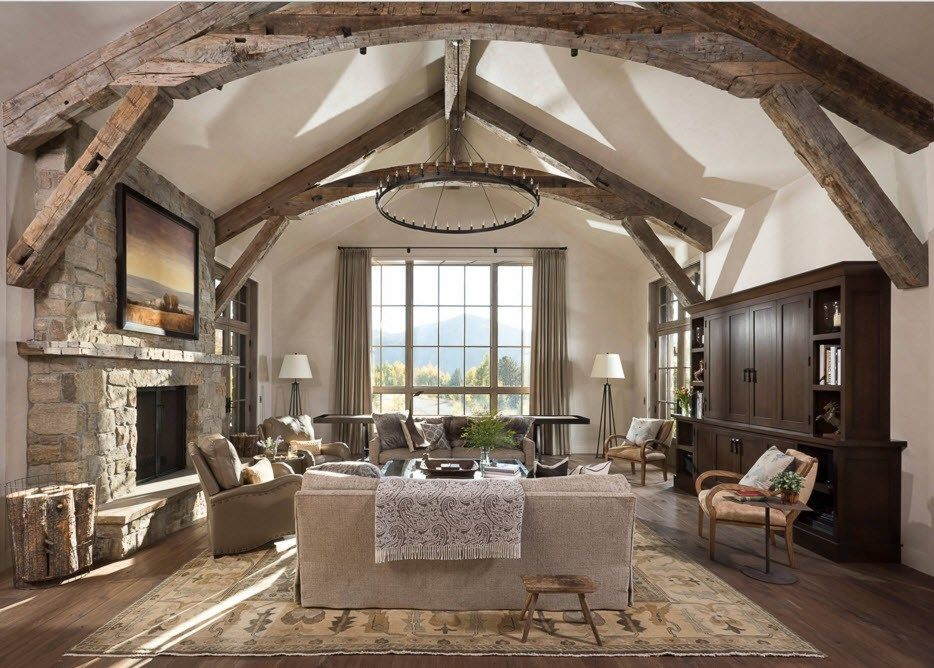 Top Ceiling Beams Design Photo Ideas. Dome formed ceiling in the light pastel trimmed large bedroom