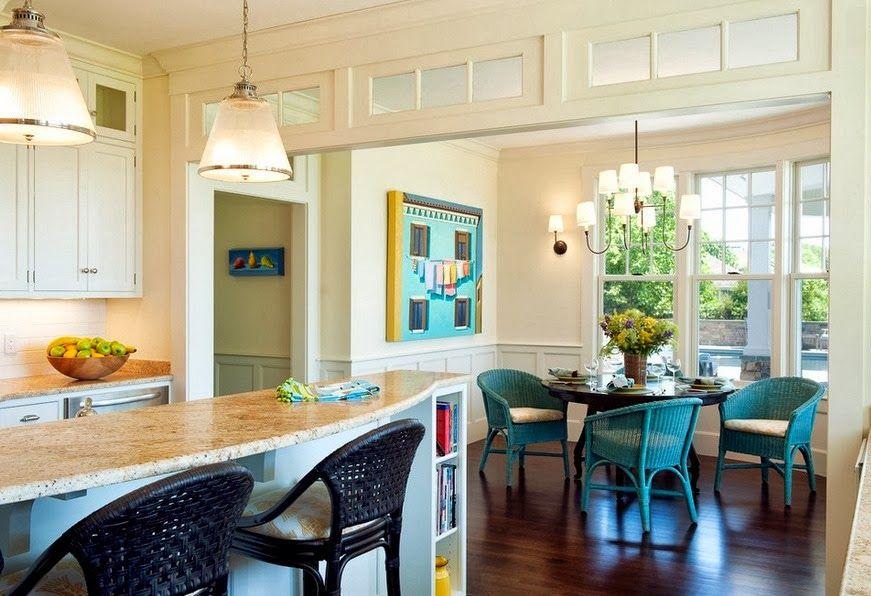 100 Kitchen Chairs Design Ideas. Nice green wicker armchairs