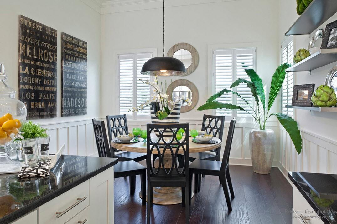 100 Kitchen Chairs Design Ideas. Eco style in the dining area with black furniture