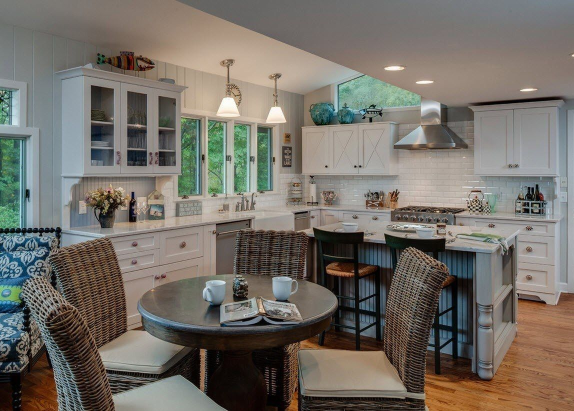 100 Kitchen Chairs Design Ideas. White trimming of the working space