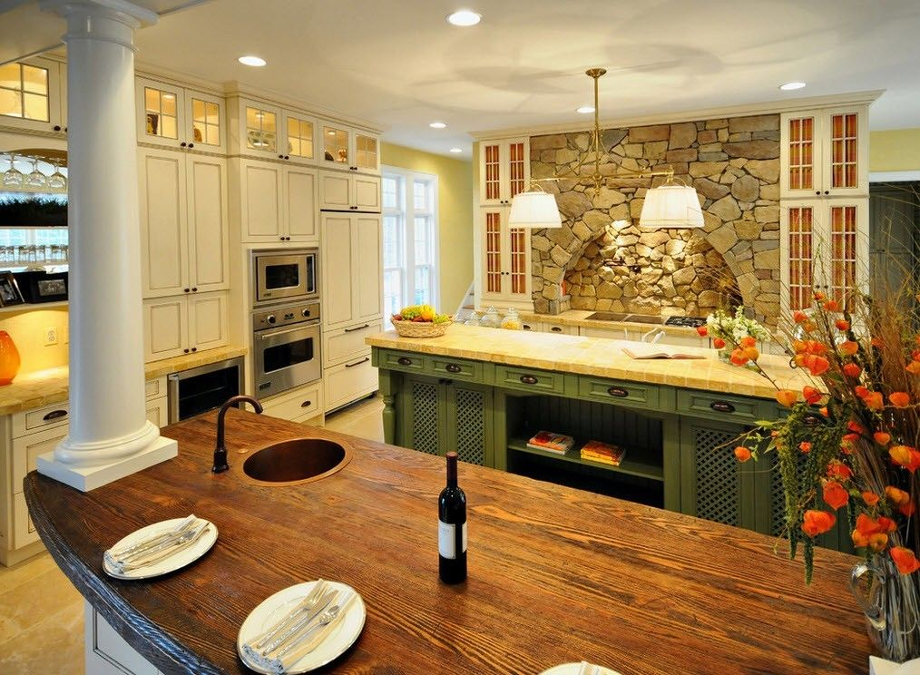 Stone Kitchen Interior Decoration Ideas. Simple enough but still spectacular Chalet design