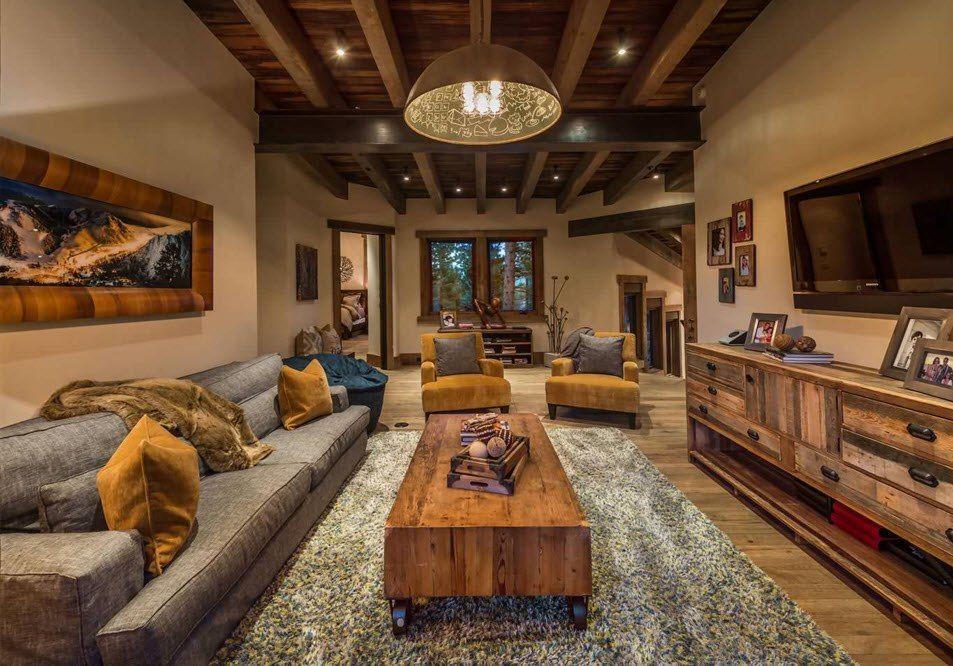 Top Ceiling Beams Design Photo Ideas. Nice dark wooden noble interior