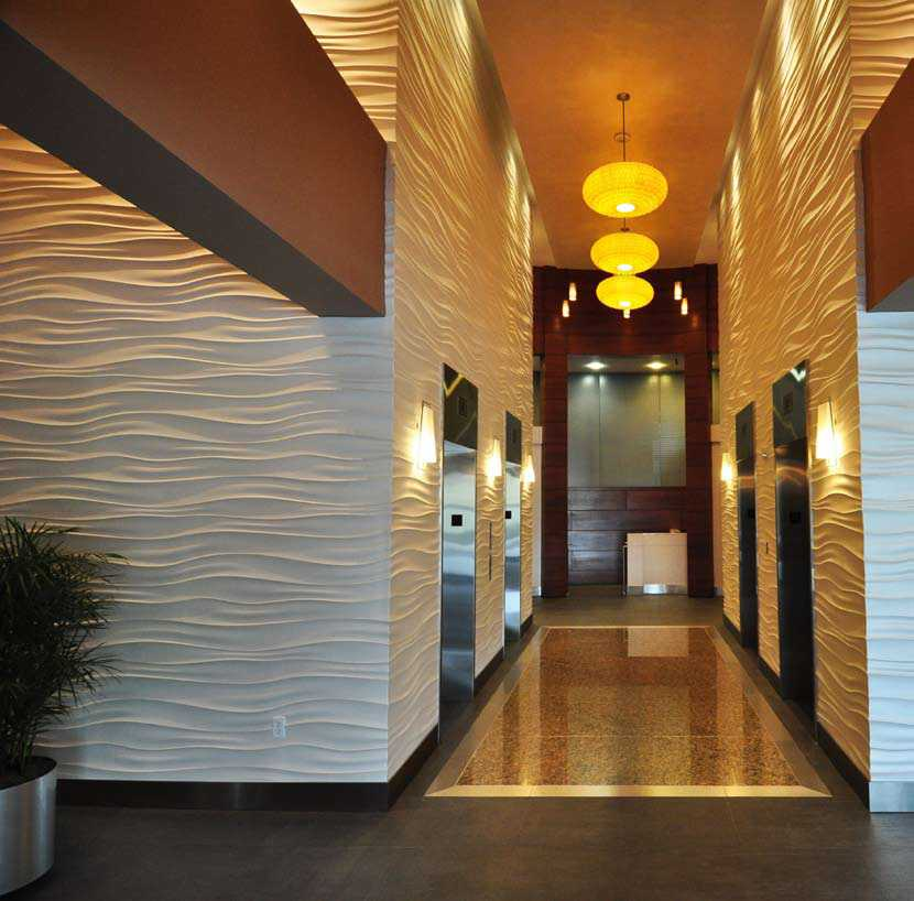 Wall panels. Vinyl gypsum panels with the surface texture for the most fashionable appearance