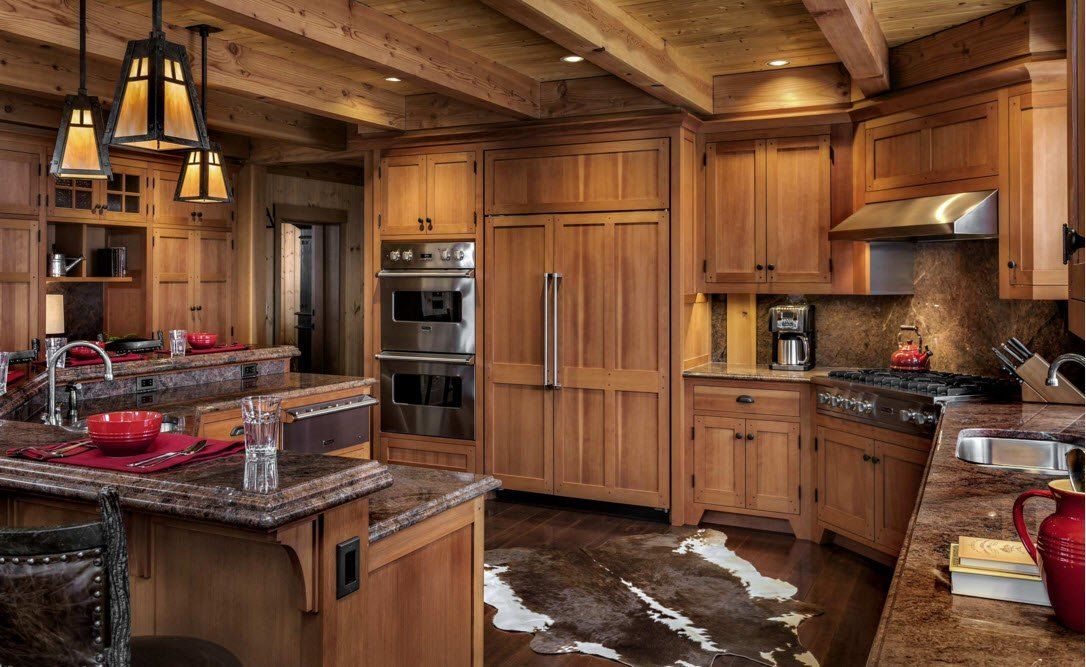 Top Ceiling Beams Design Photo Ideas. Totally wooden facing of the nobly decorated kitchen