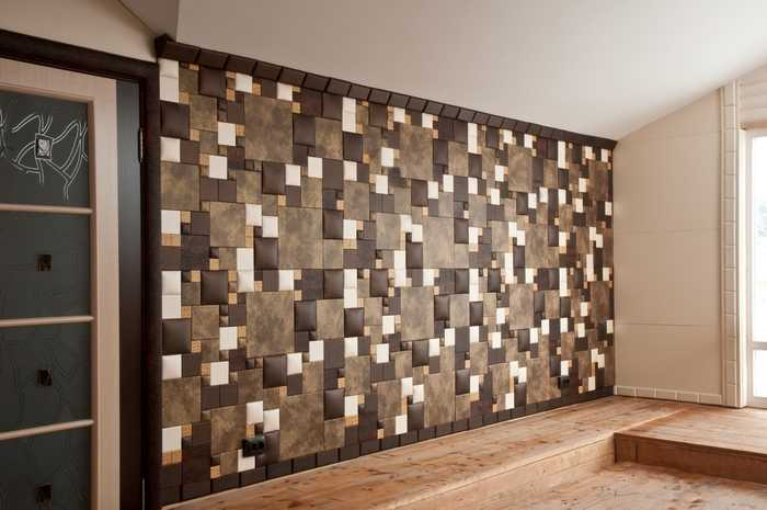 Wall Panels: Types, Sizes, Properties. Tile typesetting installations for accent walls