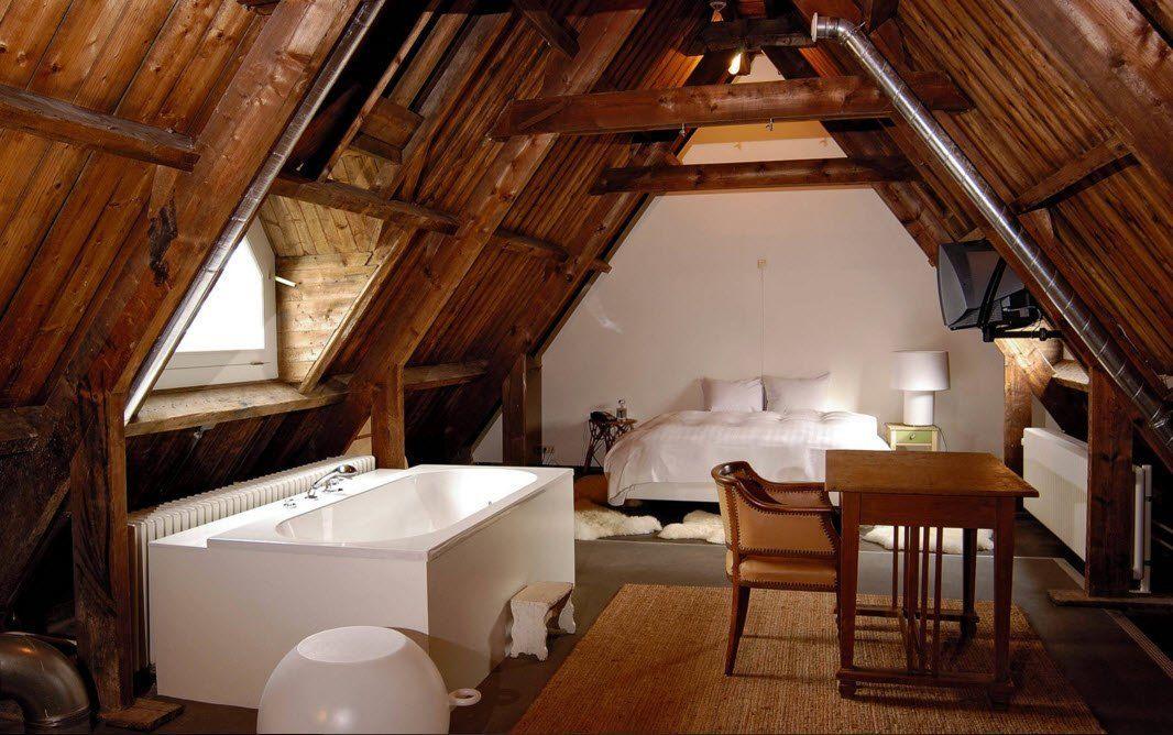 Top Ceiling Beams Design Photo Ideas. Bedroom and bathroom loft design