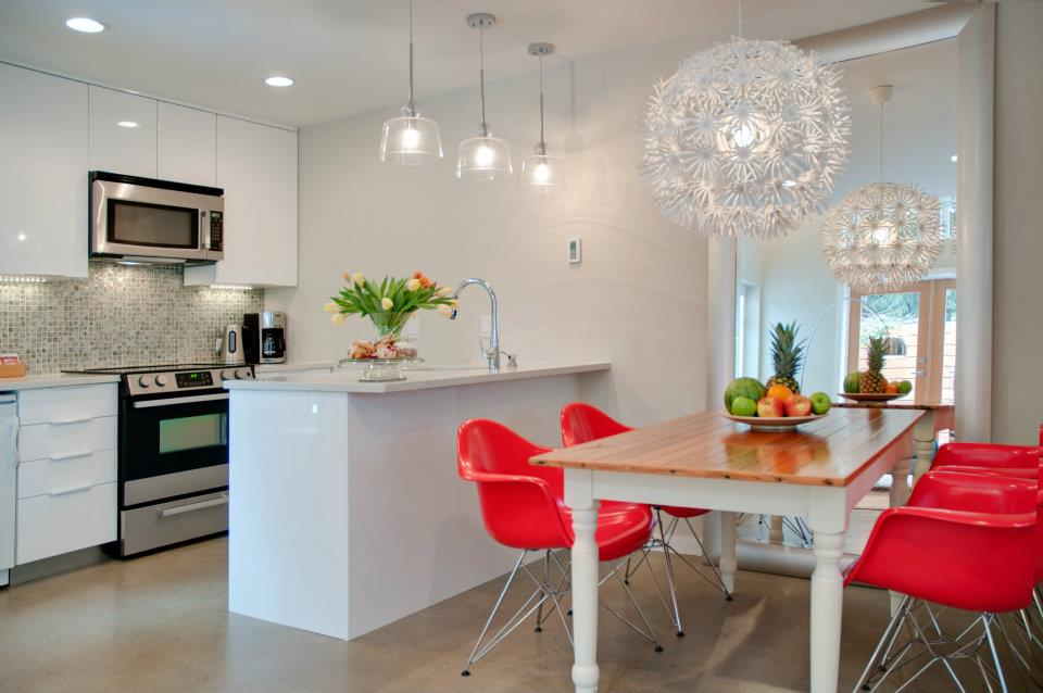 100 Kitchen Chairs Design Ideas. Spectacular red combined chairs