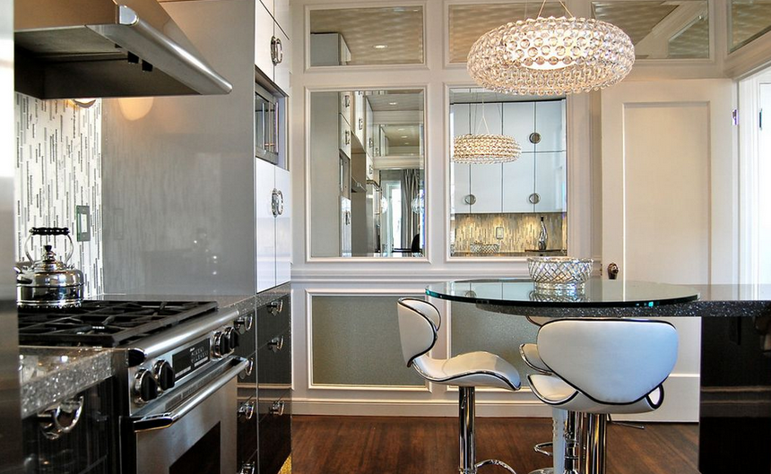 100 Kitchen Chairs Design Ideas. A lot of glass and steel