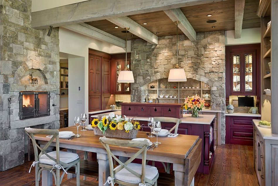 Stone Kitchen Interior Decoration Ideas. European Approach To The Country  Designing