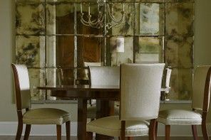 Mirror Tiles Ideas for Modern Interior Design. Accent mirror wall in the classic dining room