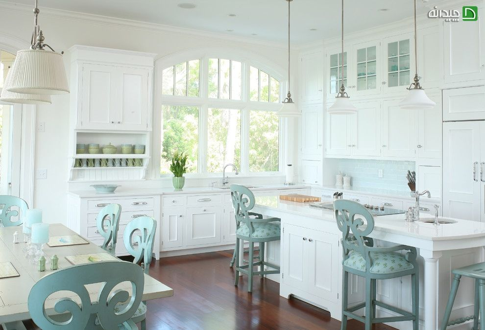100 Kitchen Chairs Design Ideas. White classic interior decoration with Provence notes and wooden material for trimming
