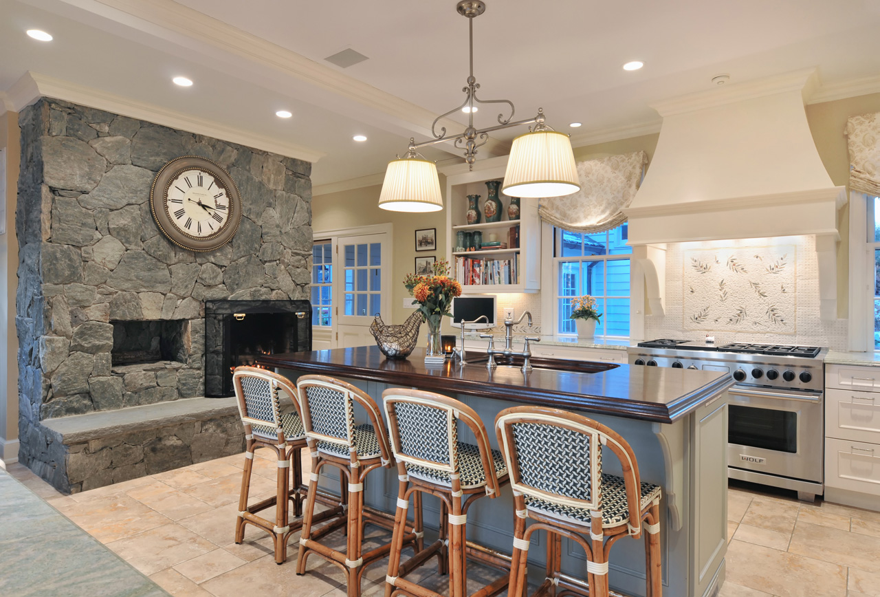 100 Kitchen Chairs Design Ideas. Stone facing of the mantelshelf area