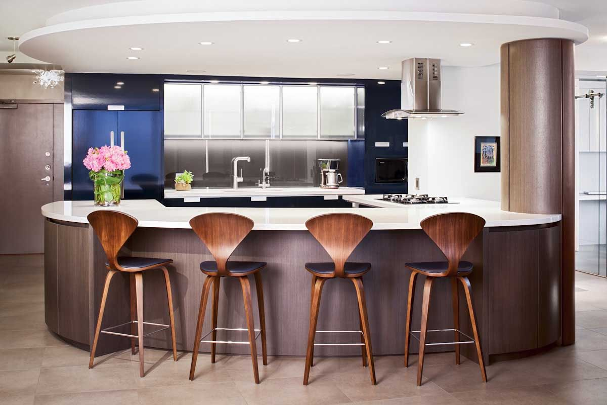 100 Kitchen Chairs Design Ideas. Round style of the furniture set with wooden material