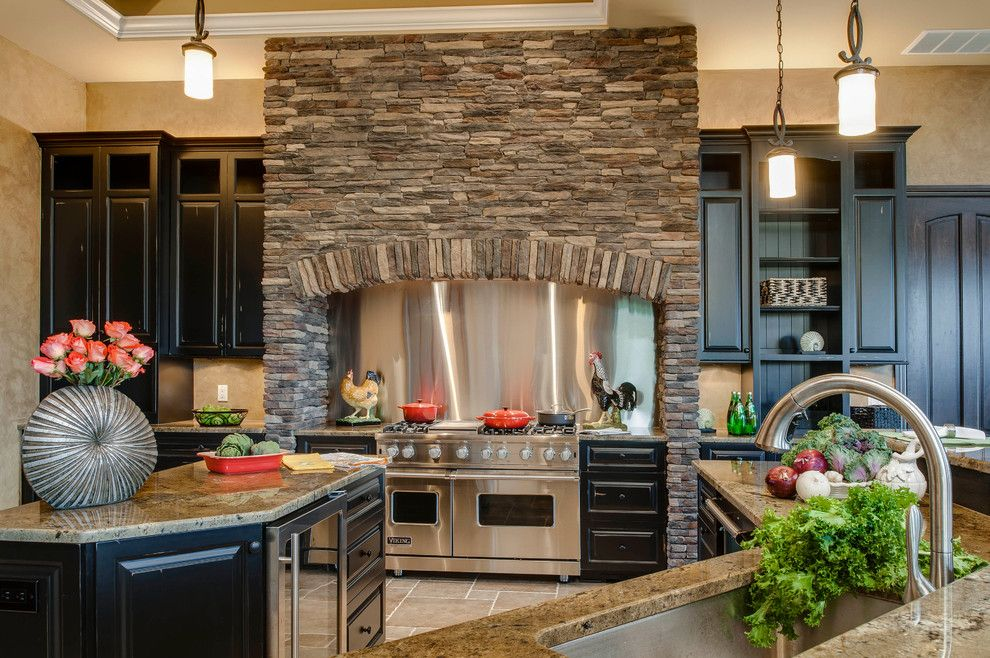 Kitchen Interior Decoration Ideas. Nice combination of the steel and stone