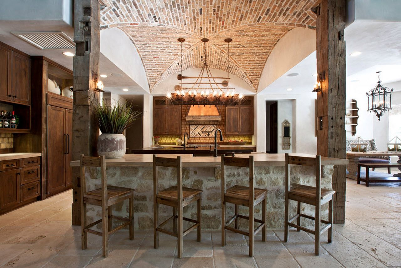 Mediterranean ciuntry kitchen style with abundance of stone decoration