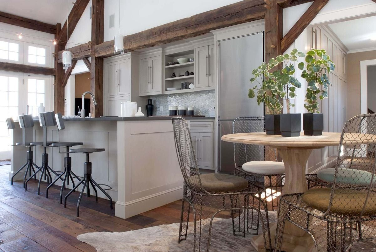 100 Kitchen Chairs Design Ideas. Chain-link fencing for stools decoration is very fresh idea