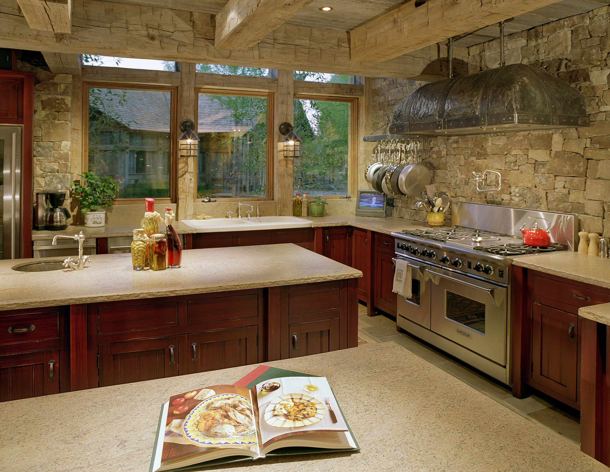 Stone kitchen interior decoration ideas small design ideas Rustic kitchen designs