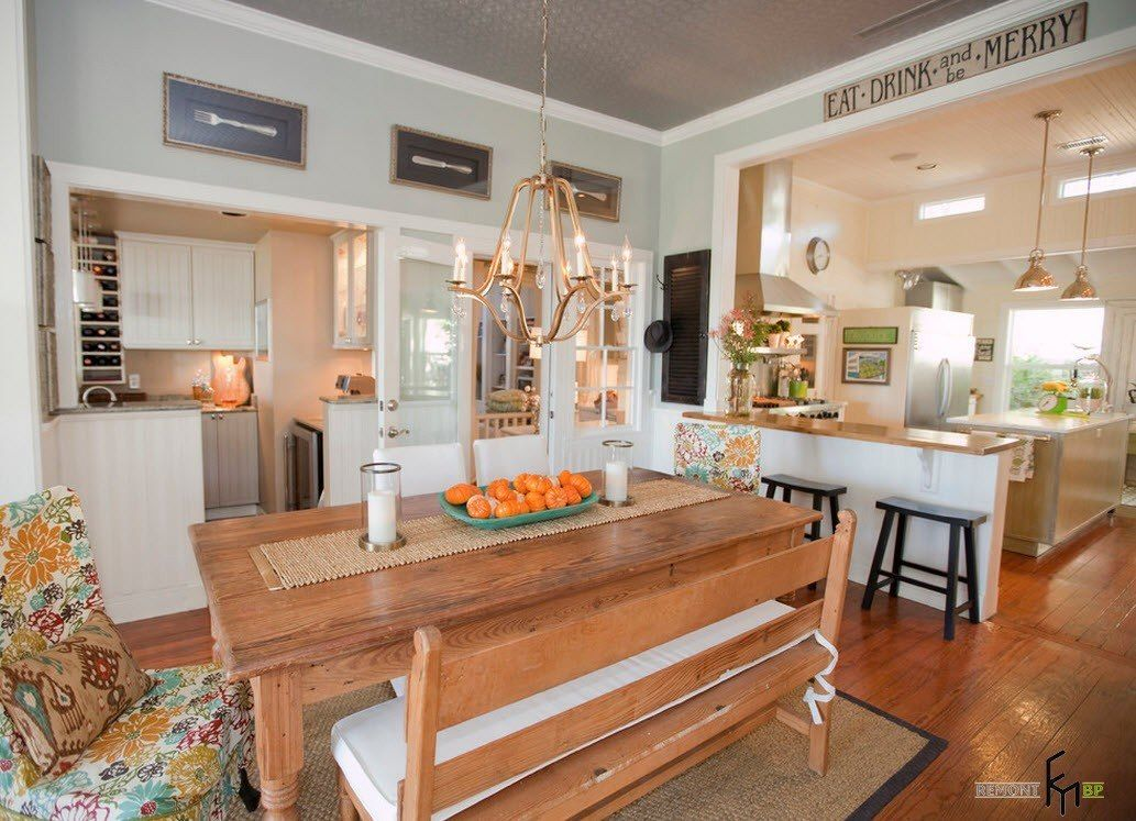 100 Kitchen Chairs Design Ideas. Nice candle lighting in the vivid designed country style