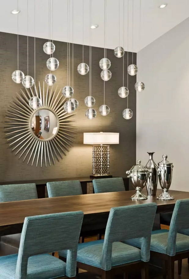 Dining Room Light Fixtures Absolutely Unrepeatable Combination Of Glass Balls And Background Lighting
