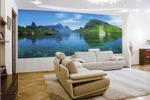 Most Widespread Types of Wallpaper. Photo wallpaper for accent walls