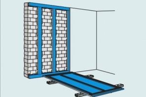 DIY Plasterboard Wall Trimming. Scheme 3 - Maximum irregularities