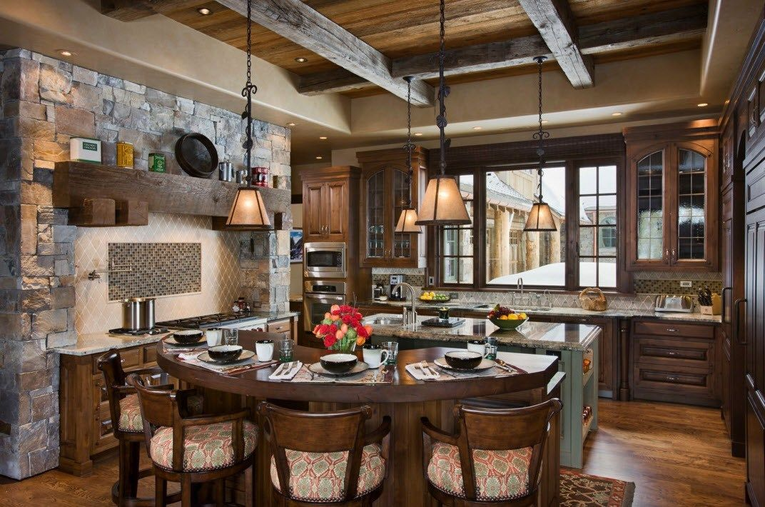 Stone Kitchen Interior Decoration Ideas. Unique rocky country design