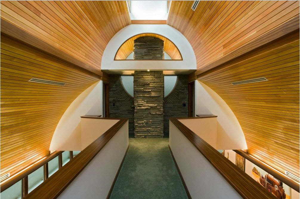 Abslutely gorgeous design of the material combination with atrium window at the roof