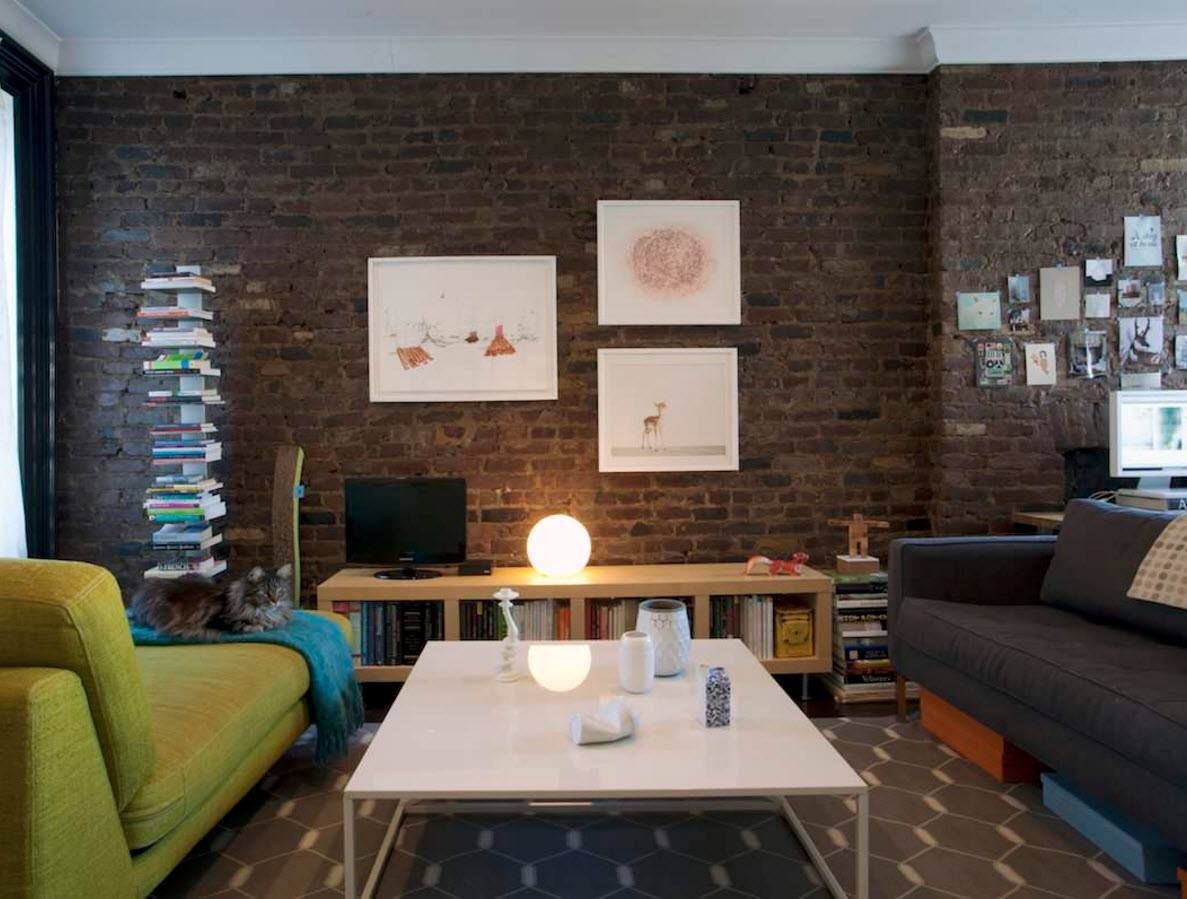 Wall brickwork design ideas for modern living spaces interior for Look 4 design salon