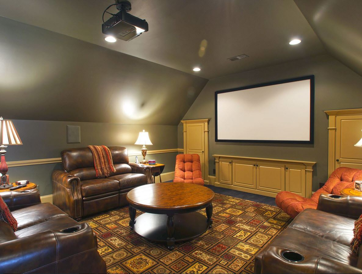 Business style decoration for the home theater at the loft