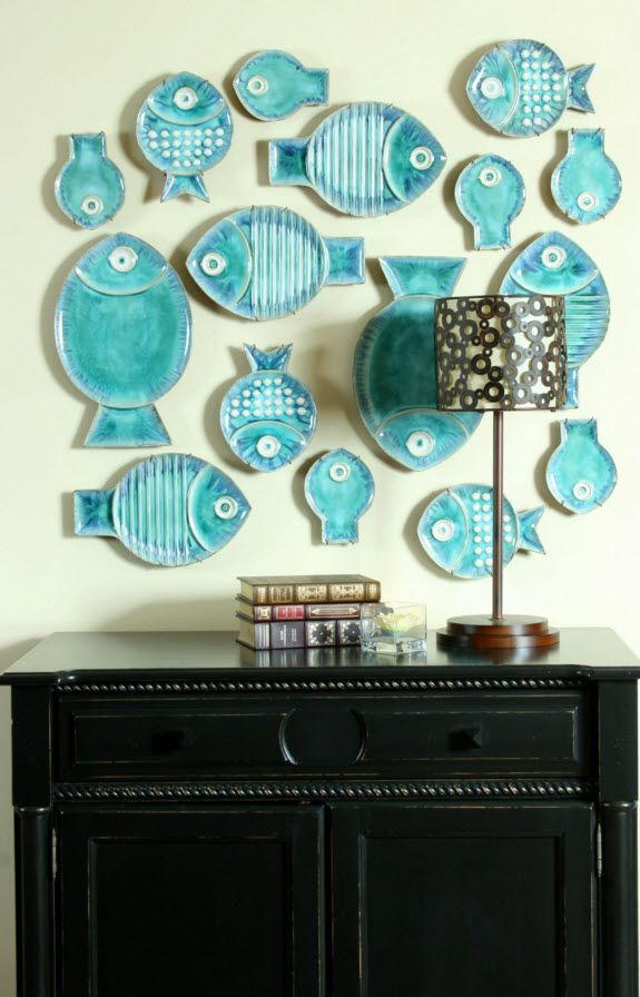 Neat blue decorative fishes to decorate the hall