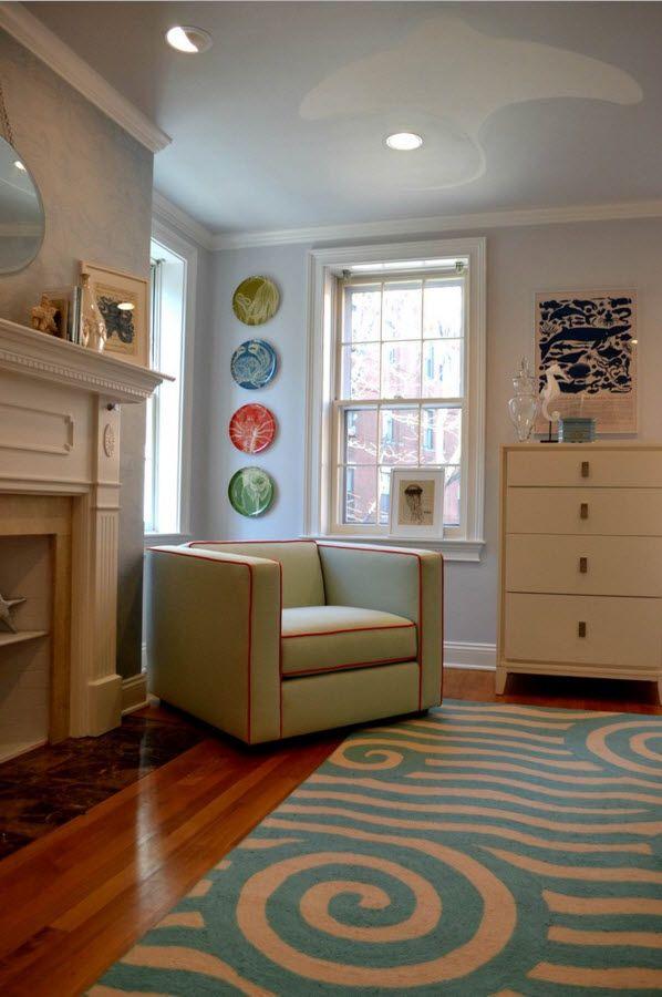 Living Room Wall Plates Decoration. Joyful decoration for vintage style