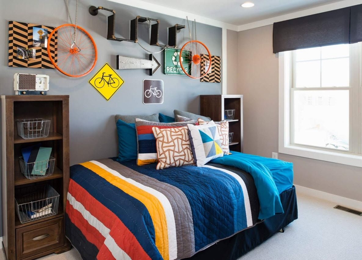 Boy's Room Design Ideas for every Age and Situation. Colorful space decoration