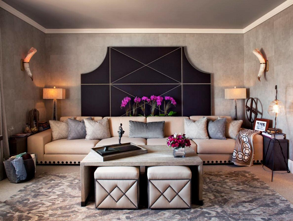 A whole complex of central furniture in the comfortably designed living room