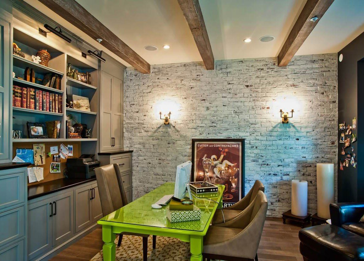 Wall Brickwork Design Ideas for Modern Living Spaces Interior. Rustic style in the dining room