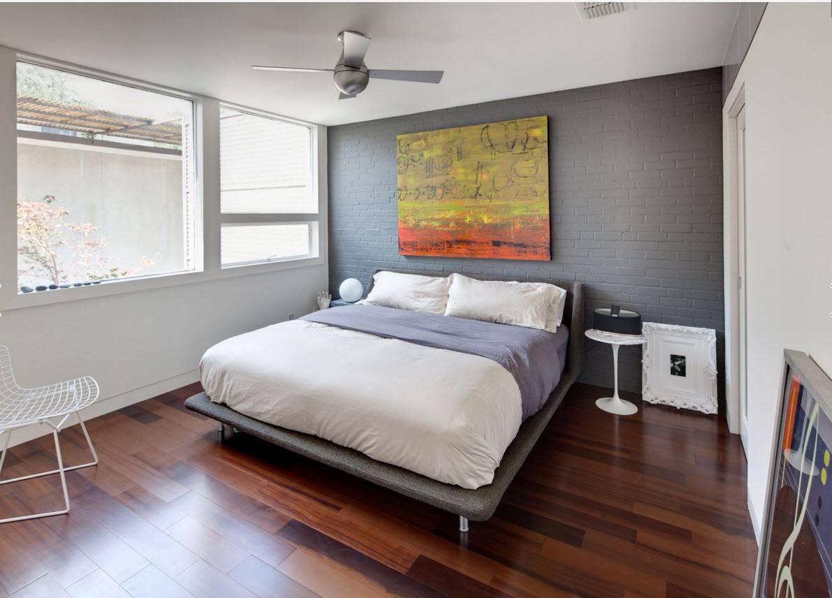 Wall Brickwork Design Ideas for Modern Living Spaces Interior. Whitewashed bircks under the panoramic window