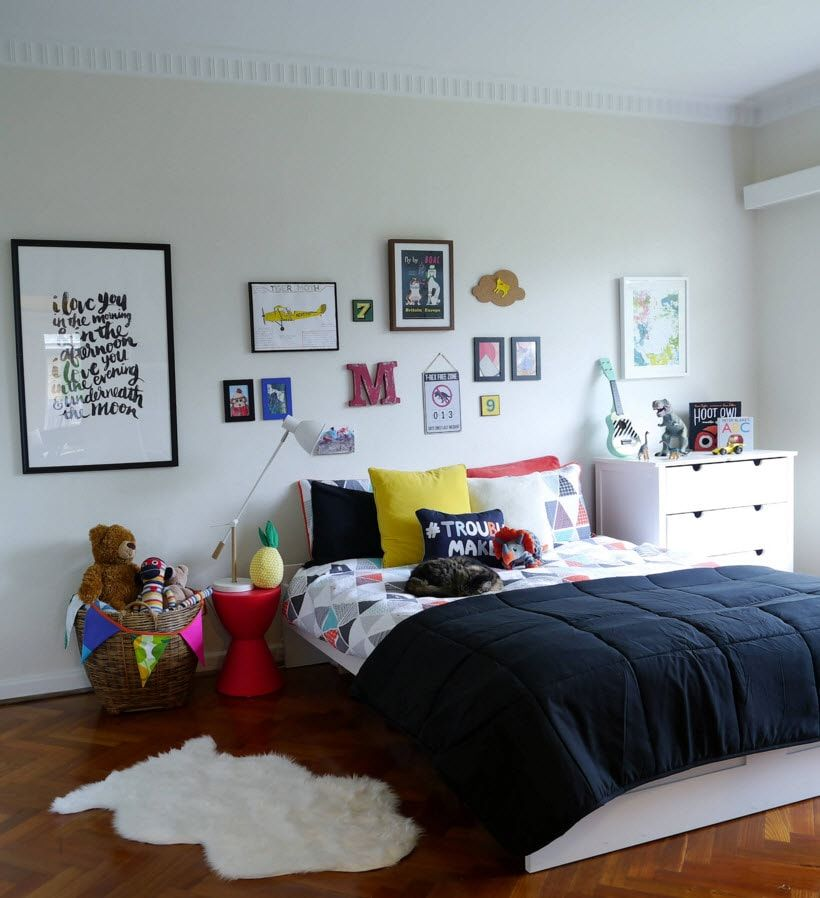 Boy's Room Design Ideas for every Age and Situation. Nice fluffy rug at the bedroom for deep pleasant sleep