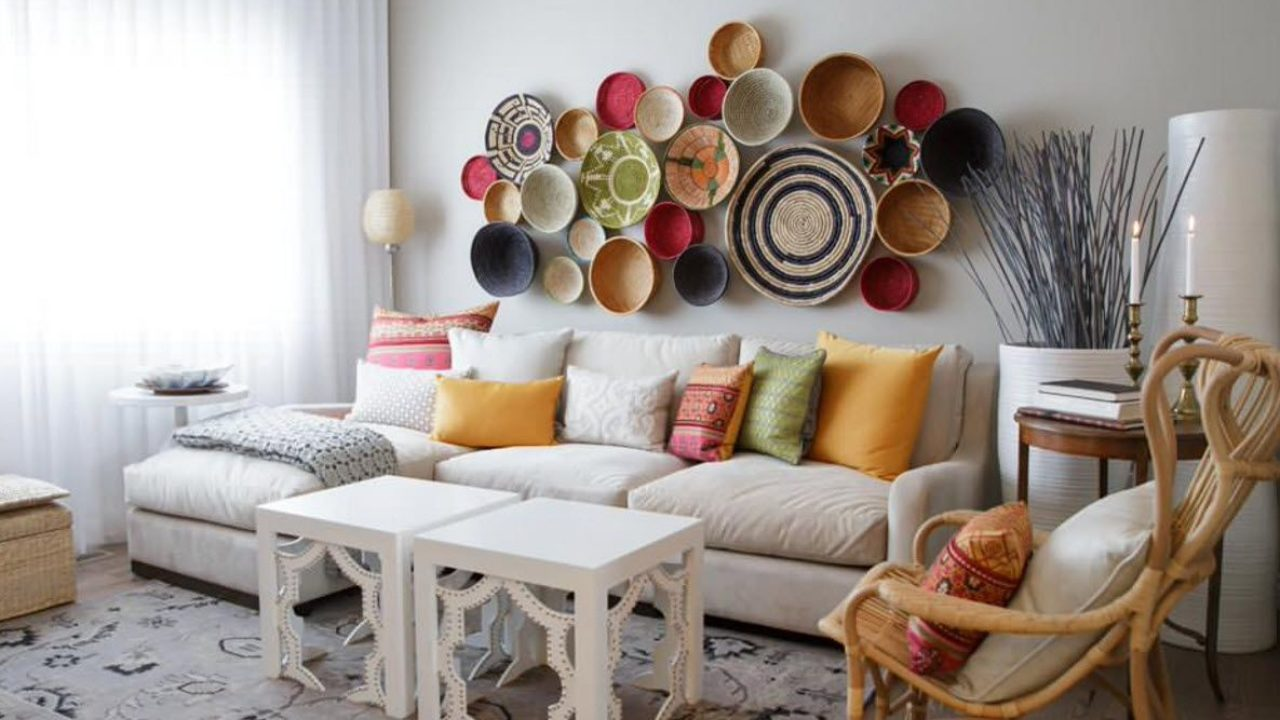 Living Room Wall Plates Decoration Small Design Ideas