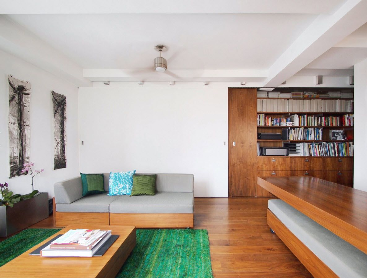 Walnut Furniture for the Modern Interior Decoration. Light wooden theme for the contemporary living