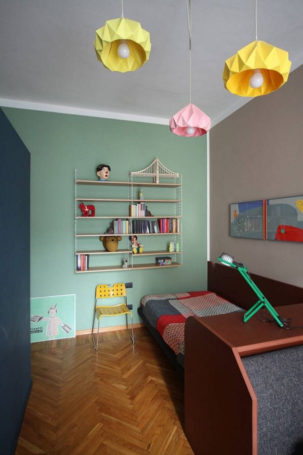 Boy's Room Design Ideas for every Age and Situation. Nice austere but colorful combination of interior   decor