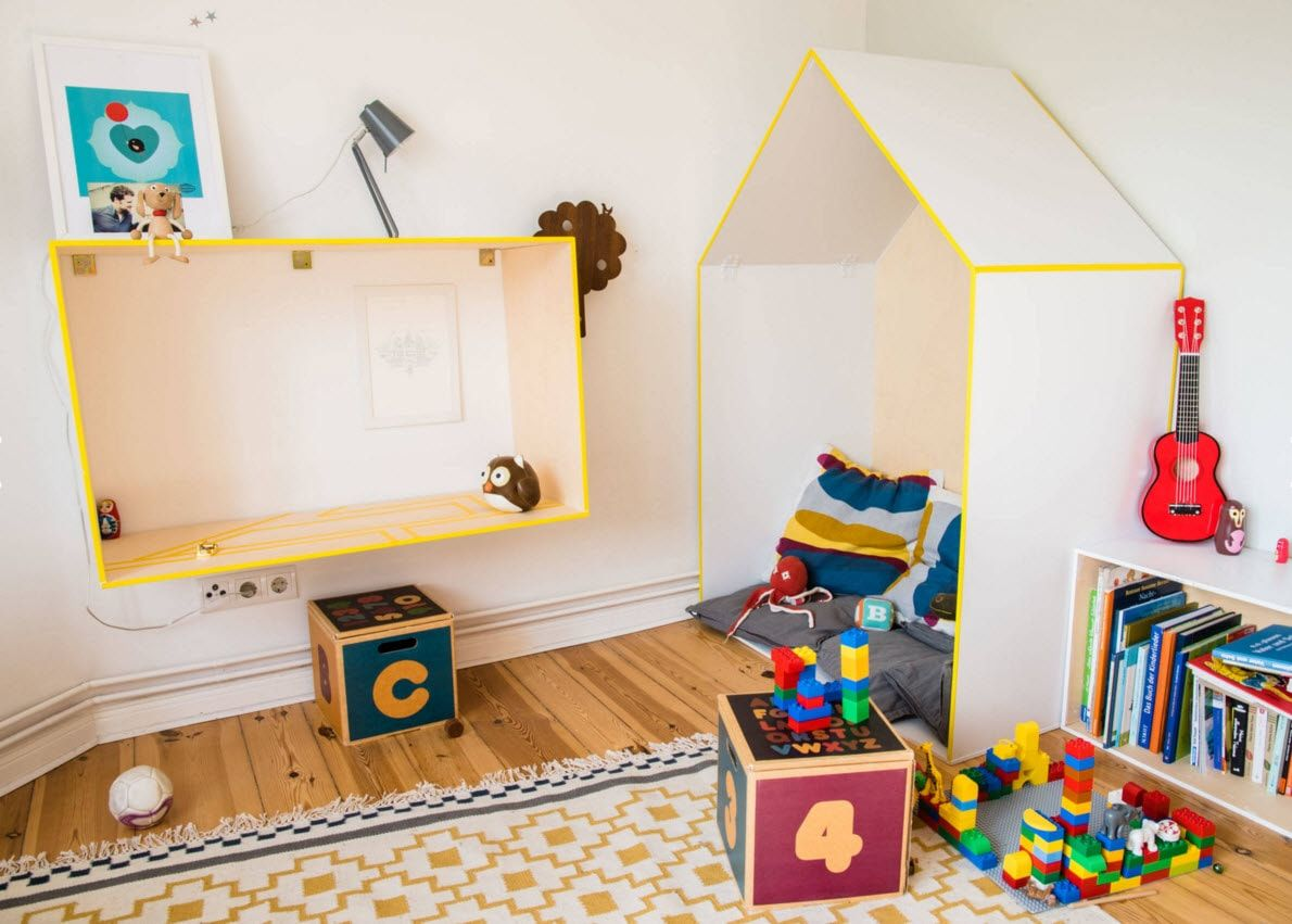 Boy's Room Design Ideas for every Age and Situation. Yellow tones in the arrangement of cozy atmosphere for little man