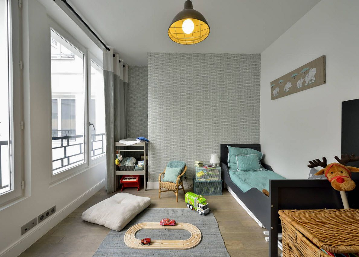 Boy's Room Design Ideas for every Age and Situation. Plenty of different decorations and games in the neutrally decorated premise